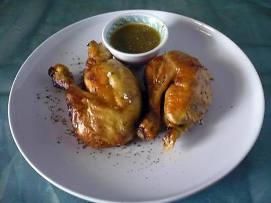 Recette de cuisses de poulet marin au miel - Cuisse de poulet calories ...