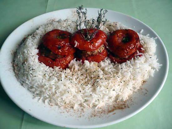 recette Tomates farcies boeuf/champignons