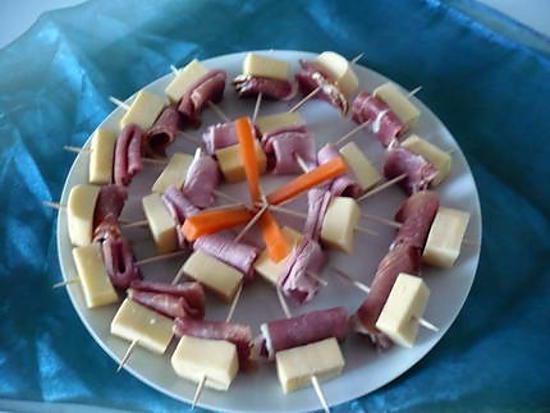 Recette d 39 amuses bouche jambon serrano gruy re - Amuse bouche a preparer d avance ...