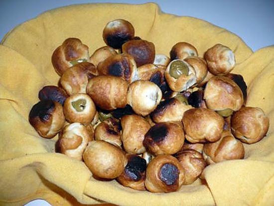 recette Feuilletés aux olives farcies