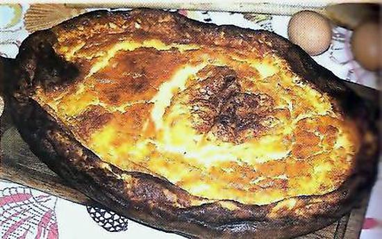 recette Far breton revu par un Picard au raisins et rhum ( un peu roussi mais très Bon !!! )