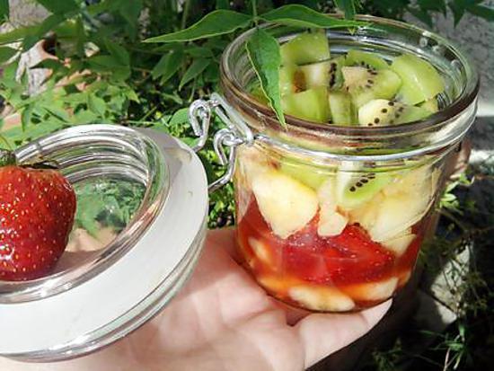 recette Verrine au 4 fruits de saison