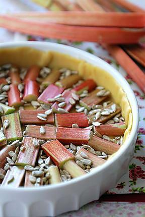 Recette de tarte la rhubarbe et aux graines de tournesol - Graine de rhubarbe ...