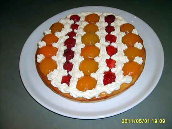 recette tarte/mascarpone/abricots/fraises