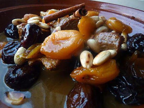 recette Tajine pruneaux et abricots