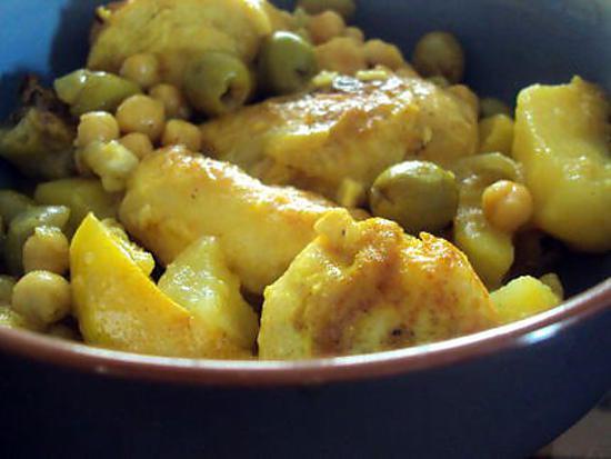 poulet aux olives de cess facon tajine