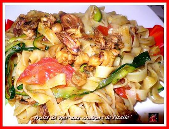 recette fruits de mer aux couleurs de l'italie