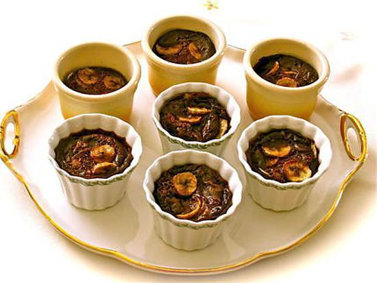 recette CLAFOUTIS AU CHOCOLAT ET BANANES