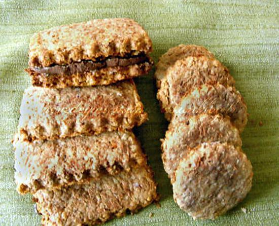 recette Biscuits sains et 0% de complexe (figues, noisettes, châtaigne, avoine et son)