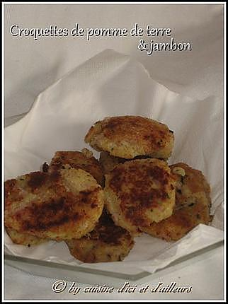 recette de croquettes de pommes de terre jambon. Black Bedroom Furniture Sets. Home Design Ideas