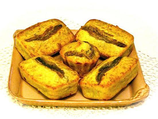 recette CAKES AUX ANCHOIS ET ROMARIN