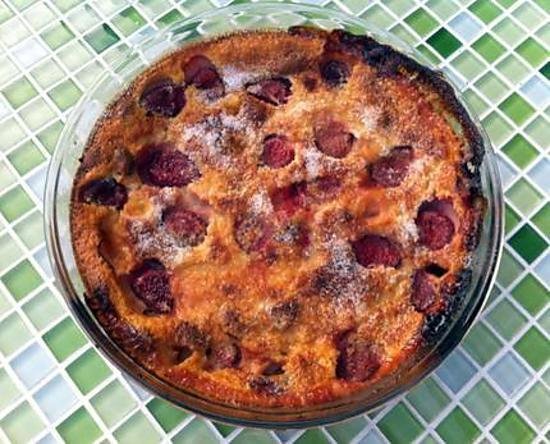 recette Clafoutis abricots, fraises, nougat