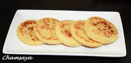 recette Mini harcha ou galette de semoule à la marocaine