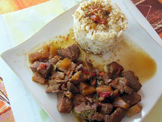 recette Porc aigre-doux à l'ananas