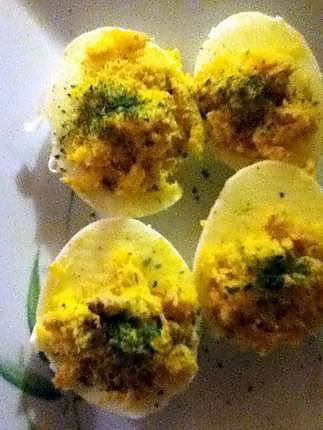 recette Oeufs Mimosa au thon