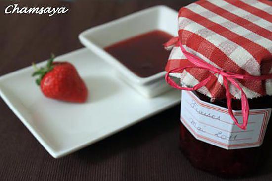 recette de confiture de fraises par chamsaya. Black Bedroom Furniture Sets. Home Design Ideas