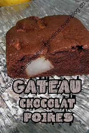 recette gateau chocolat poires