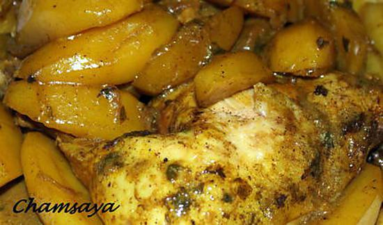 recette de tajine de poulet et pommes de terre. Black Bedroom Furniture Sets. Home Design Ideas