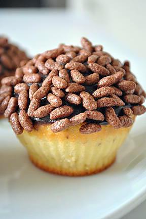 recette Cupcakes au riz soufflé et pâte à tartiner au chocolat