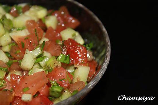 Recette de salade marocaine concombre et tomates - Salade de tomates simple ...