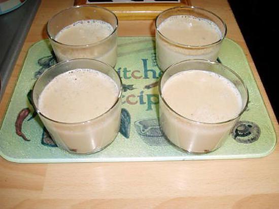 recette crème au café