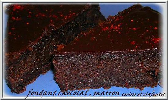 recette fondant choco-marron poudré d'espelette