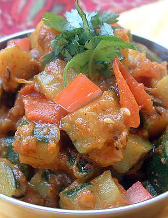 recette Recette indienne Courgettes aux épices