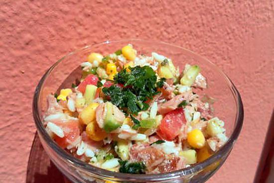 recette Salade de riz toute simple