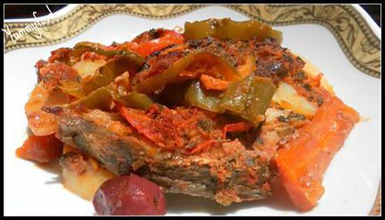Recette de tajine de poisson au four la marocaine - Cuisson tajine au four ...