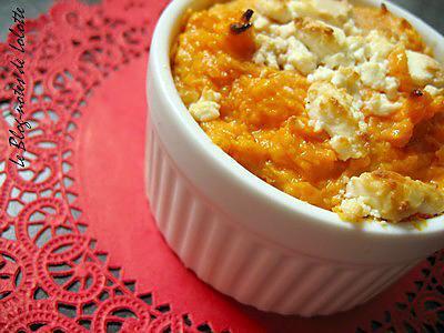 recette Sweet potato casserole - Soufflés à la patate douce et au chèvre