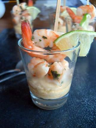 recette Purée de pois chiches, crevettes sauce thaïe