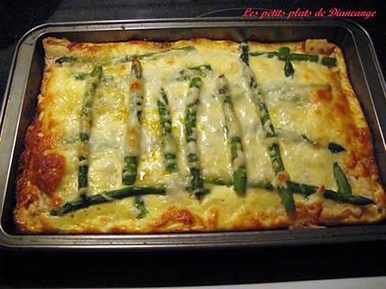 recette Tarte feuilletée aux asperges et fromage