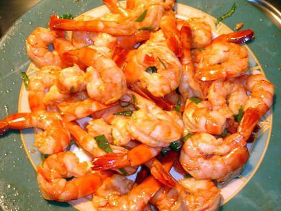 recette Crevettes Marinée de Marie-Jo