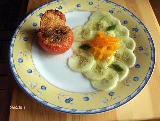 recette Chaud-Froid de Tomate provençale et concombre