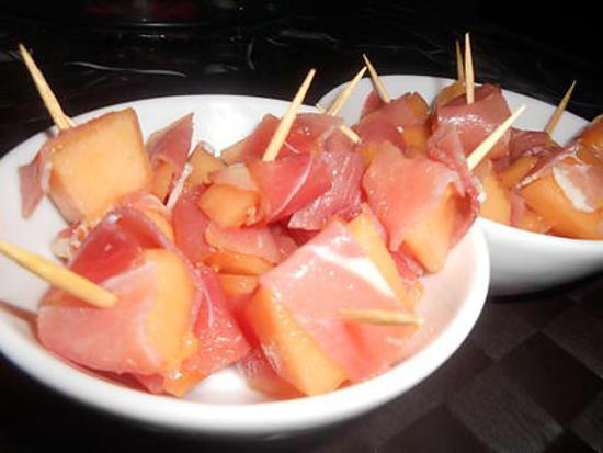 Recette de pic melon jambon - Melon jambon cru presentation ...