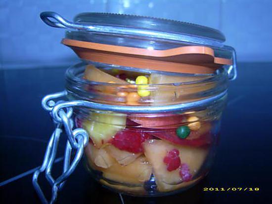 recette verrine de fruits frais (réalisé par mon fils Anthony)