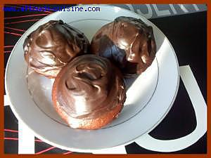 recette Muffins au chocolat et leur glaçage au chocolat