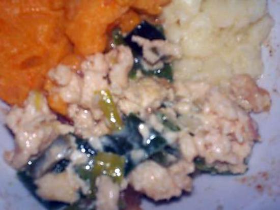 recette omelette poireau coco chèvre