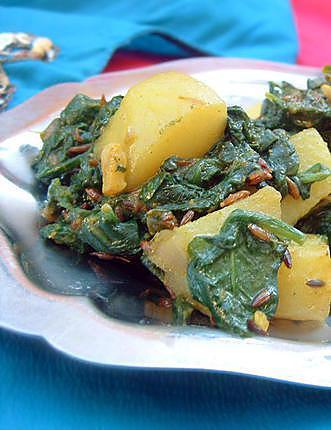 recette Recette indienne Epinards et pommes de terre