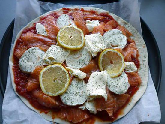 recette Pizza au saumon frais