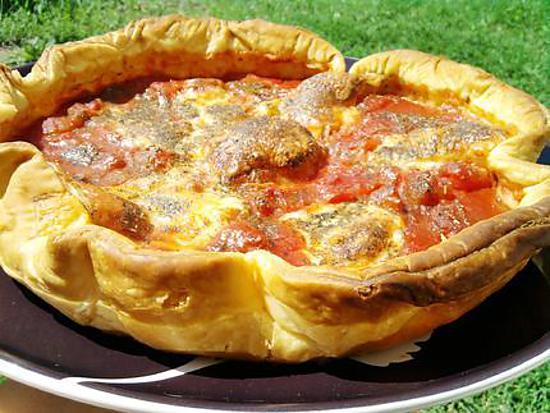 recette Tarte à la tomates et mozarella aux herbes de provence