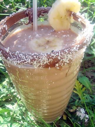 recette Milk shake à la banane ,nutella et noix de coco
