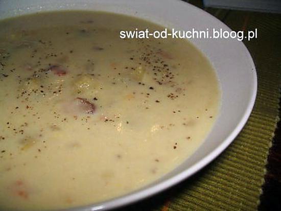 recette Chowder au lardons et aux maïs