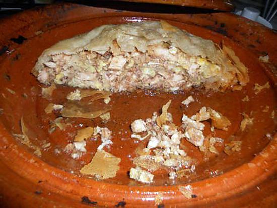 recette Pastilla de poulet cuit au tajine