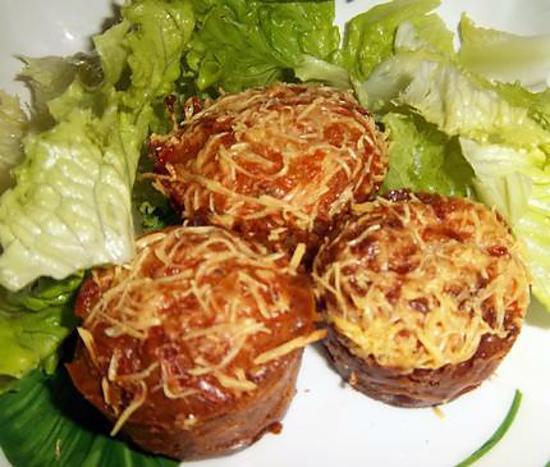 recette Muffins à la Savoyarde ( Recette de Ludi_cuisine, avec un autre choix de fromages ... ) Oo