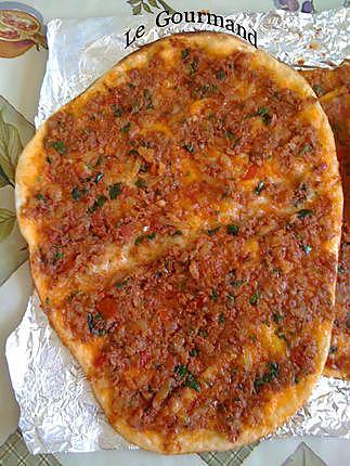 Recette de lahmacun pizza turque par legourmand25 - Recettes de cuisine turque ...