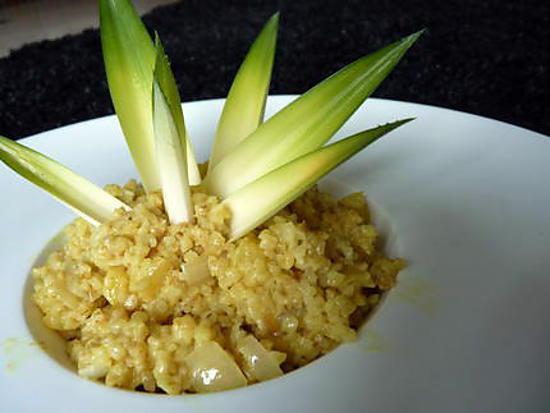 recette boulgour au lait de coco-ananas et curry