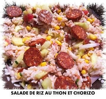 recette de salade de riz au thon et chorizo. Black Bedroom Furniture Sets. Home Design Ideas