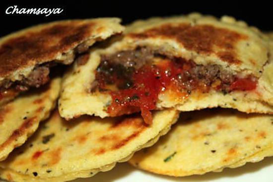 recette Mini galettes kefta et tomates