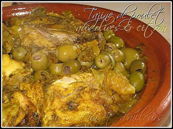 recette de tajine de poulet au citron confit olives. Black Bedroom Furniture Sets. Home Design Ideas